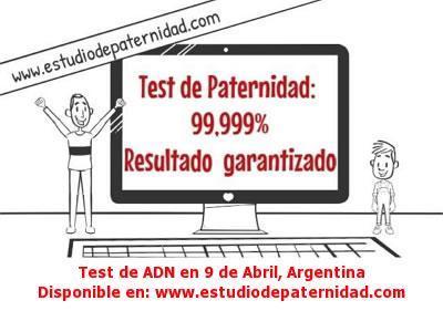 Test de ADN en 9 de Abril, Argentina
