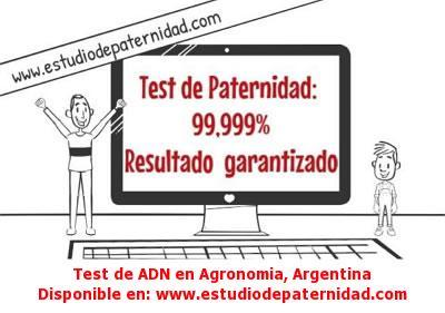 Test de ADN en Agronomia, Argentina