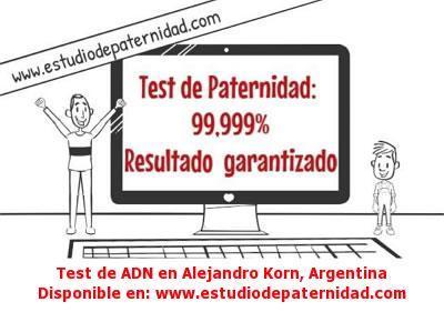Test de ADN en Alejandro Korn, Argentina