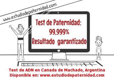 Test de ADN en Canada de Machado, Argentina