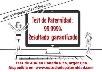 Test de ADN en Canada Rica, Argentina
