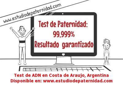 Test de ADN en Costa de Araujo, Argentina
