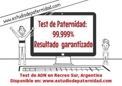 Test de ADN en Recreo Sur, Argentina