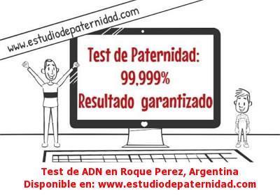 Test de ADN en Roque Perez, Argentina