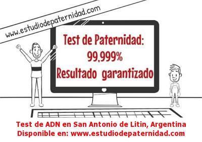 Test de ADN en San Antonio de Litin, Argentina