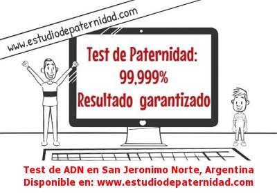 Test de ADN en San Jeronimo Norte, Argentina