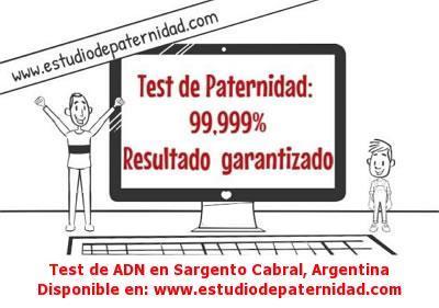 Test de ADN en Sargento Cabral, Argentina
