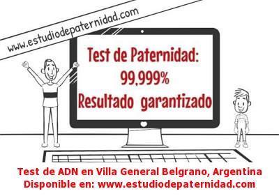 Test de ADN en Villa General Belgrano, Argentina