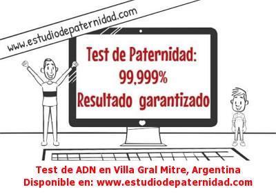 Test de ADN en Villa Gral Mitre, Argentina