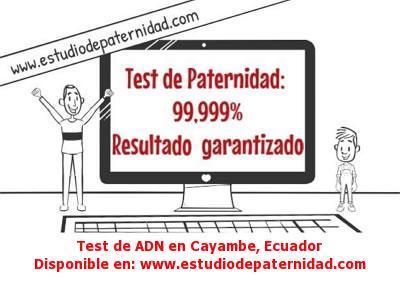 Test de ADN en Cayambe, Ecuador