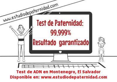 Test de ADN en Montenegro, El Salvador