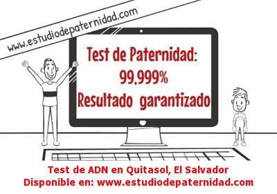 Test de ADN en Quitasol, El Salvador
