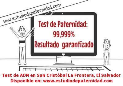 Test de ADN en San Cristóbal La Frontera, El Salvador