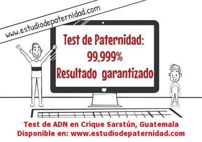 Test de ADN en Crique Sarstún, Guatemala
