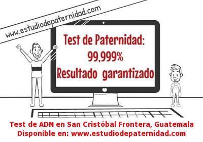 Test de ADN en San Cristóbal Frontera, Guatemala