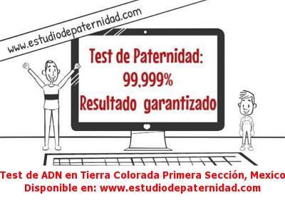 Test de ADN en Tierra Colorada Primera Sección, Mexico