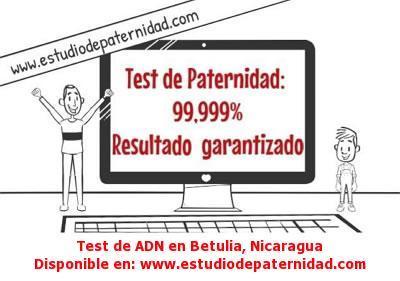 Test de ADN en Betulia, Nicaragua