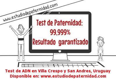 Test de ADN en Villa Crespo y San Andres, Uruguay